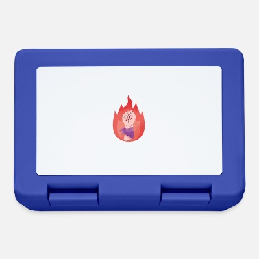 Fire Woman Woman power female fist with bandana and fire - Lunchbox