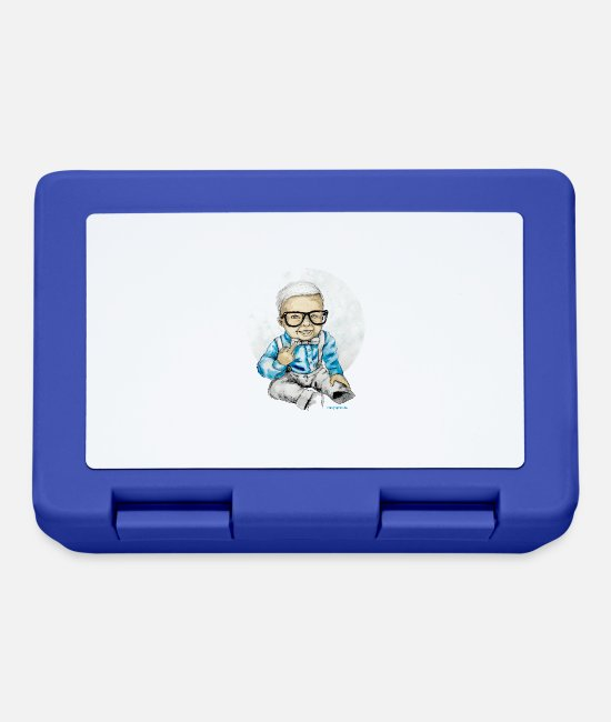 Geek Lunchboxes - Naughty Boy - Lunchbox royal blue