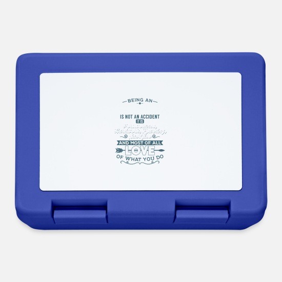 Bless You Lunchboxes - Love what you do - Nurse - Lunchbox royal blue