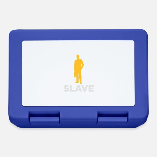 Career Lunchboxes - I Am A Corporate Slave - Lunchbox royal blue