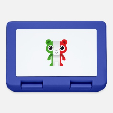Azzurri Bear in colors of the Italian flag / coat of arms - Lunchbox