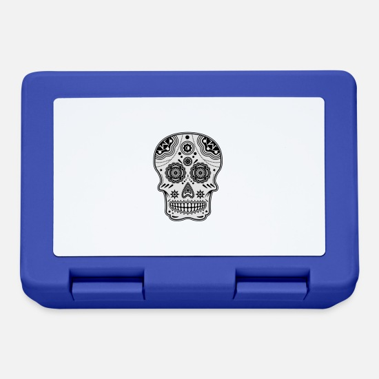 Tradition Brotdosen - sugarskull vectoriel en 2 couleur - Brotdose Royalblau