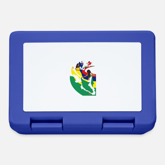 Mauritius Lunchboxes - Ladies Sega Dance - White - Lunchbox royal blue