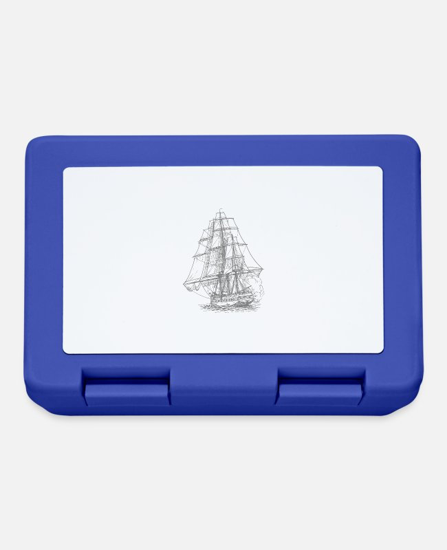 Gold Lunchboxes - pirate ship boat pirate pirate ship ship skull2 - Lunchbox royal blue