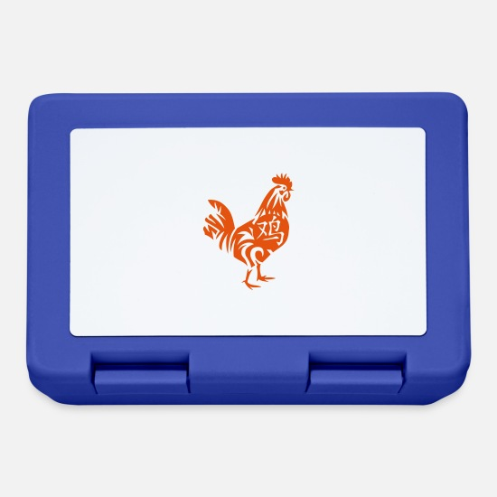 Birth Lunchboxes - Rooster Chinese Zodiac sign rooster 2 - Lunchbox royal blue