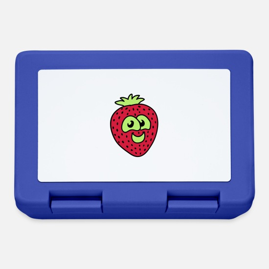 Animal Lunchboxes - small strawberry - Lunchbox royal blue