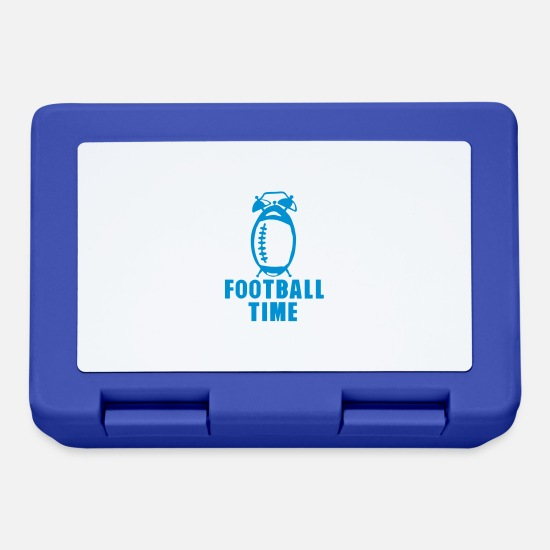 Alarm Clock Lunchboxes - football time alarm clock ring balloon - Lunchbox royal blue