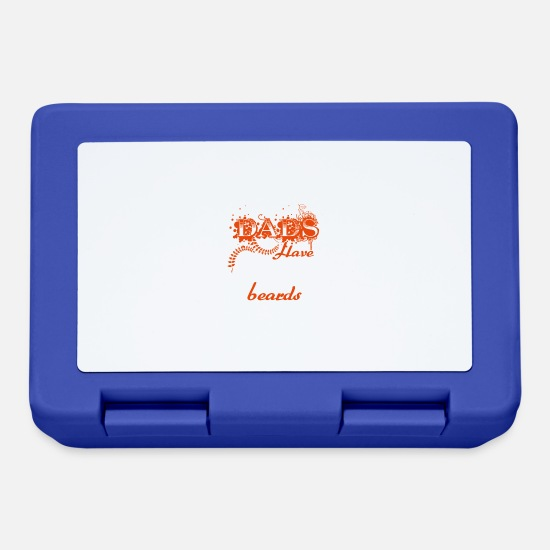 Dad Lunchboxes - Awesome Dads Have Tatoos And Beards - Lunchbox royal blue