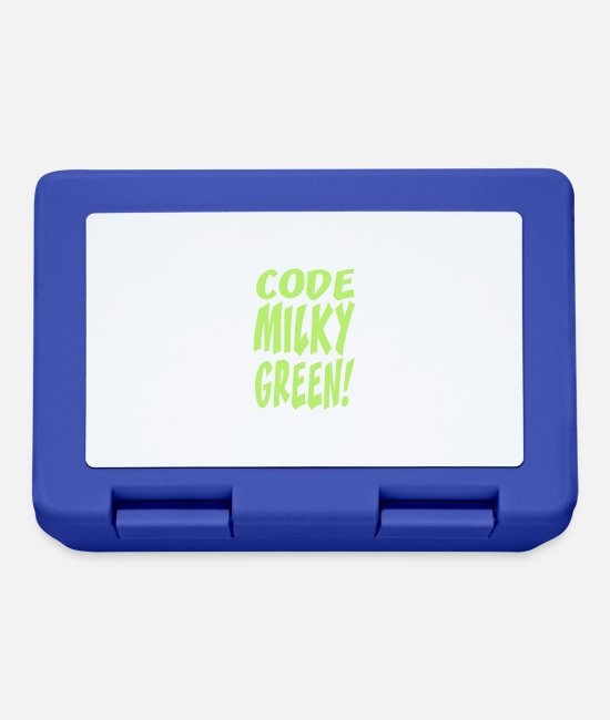 Game Lunchboxes - code milky green - Lunchbox royal blue