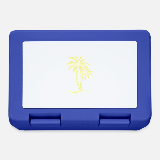 Hammock Lunchboxes - Palm SUMMER yellow - Lunchbox royal blue