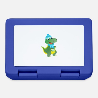 The winter dino with blue cap - Lunchbox