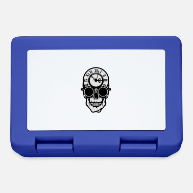 Skull Death Skull death head clock halloween 2203 - Lunchbox