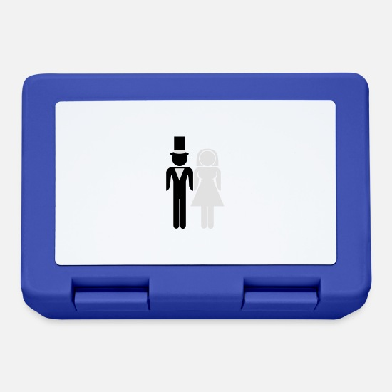 Bride Lunchboxes - Marriage Couple - Lunchbox royal blue