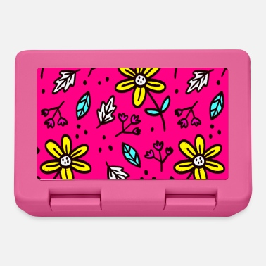 Flashy bright flowers and leaves - Lunchbox