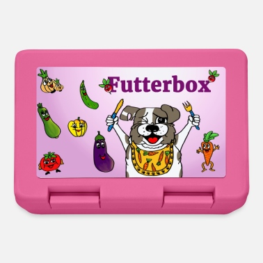Bread tin for two-legged friends / food box with dog motif - Lunchbox