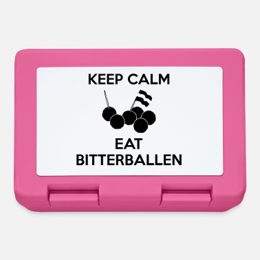 KEEP CALM Eat Bitterballen Multi Color Vector - Broodtrommel