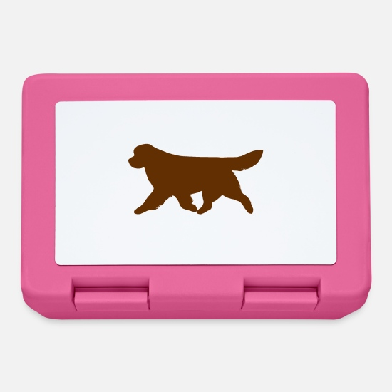 Silhouette Lunchboxes - Newfoundland (Brown) Trotting - Lunchbox pink