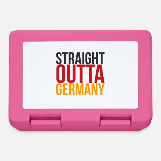 Fußball Brotdosen - Straight Outta Germany straight out of germany - Brotdose Pink