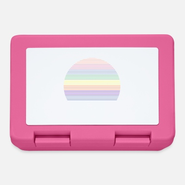 Retro rainbow pastel colors symbol shape - Lunchbox
