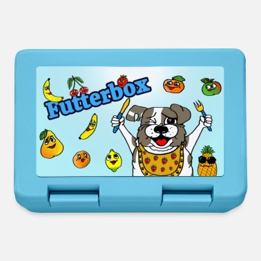 Bread tin for two-legged friends / fruit box with dog motif - Lunchbox