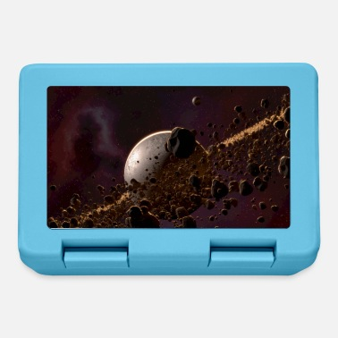 Pebble Asteroid Belt Sci-Fi Fantasy Rendering Image - Lunchbox