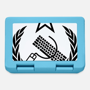 Keyboard The keyboard and mouse Communist - Geek Flag - Lunchbox