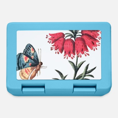 Flying butterfly with flowers - Lunchbox
