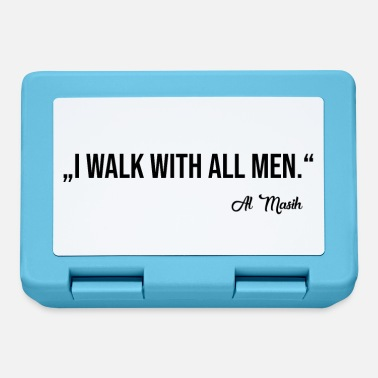 WALK WITH ALL MEN - Lunchbox