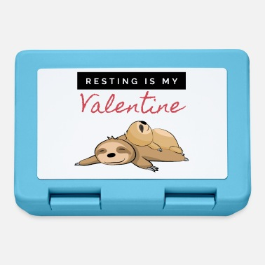 Late Risers Valentine's Day sloth grouchy late riser - Lunchbox