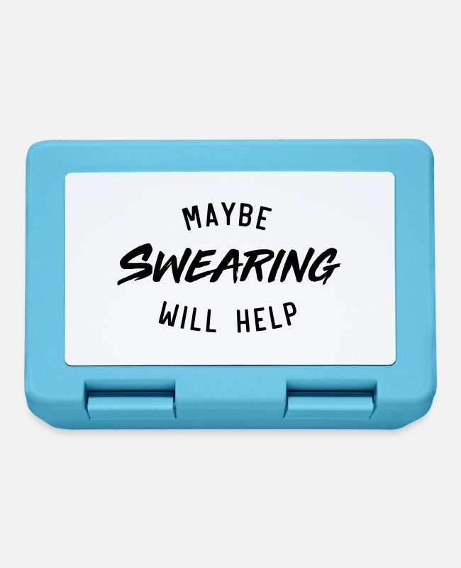 Maybe Lunchboxes - Maybe Swearing Will Help - Lunchbox sapphire blue