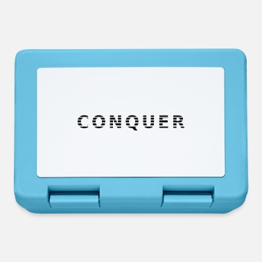Conquer lettering style shirt - Lunchbox