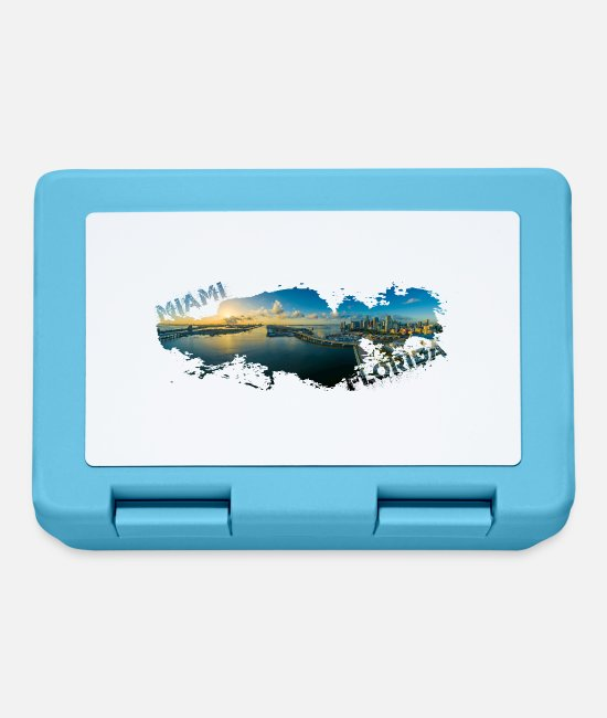 Usa Lunchboxes - Miami Florida Splash - Lunchbox sapphire blue