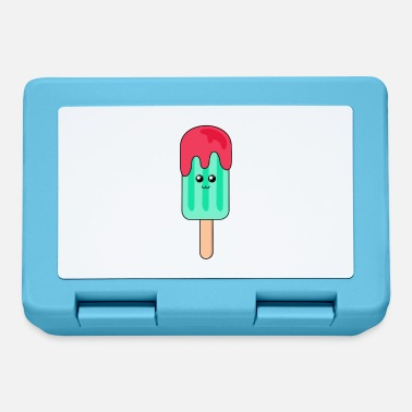 Water ice | Cute | Face | Popsicles | blue - Lunchbox