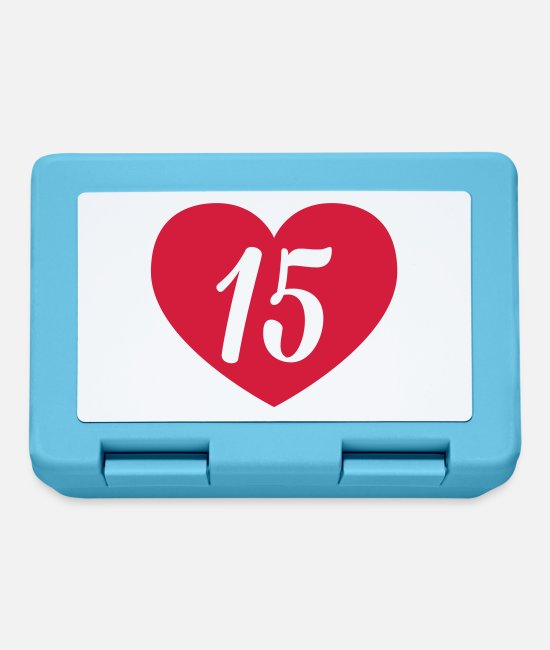 Heart Lunchboxes - 15th birthday heart - Lunchbox sapphire blue