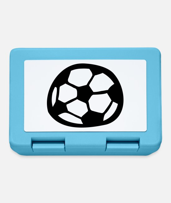 Comic Style Lunchboxes - Soccer - Lunchbox sapphire blue