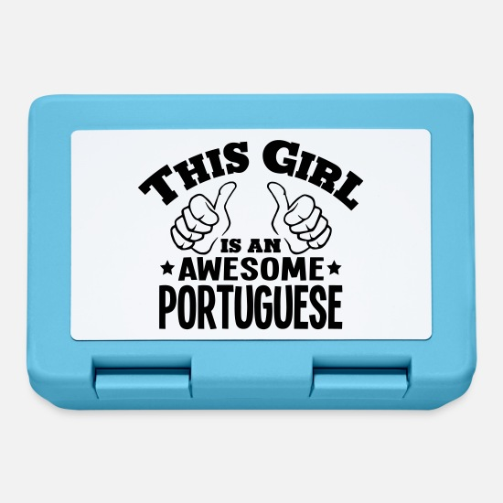 Awesome Lunchboxes - this girl is an awesome portuguese - Lunchbox sapphire blue