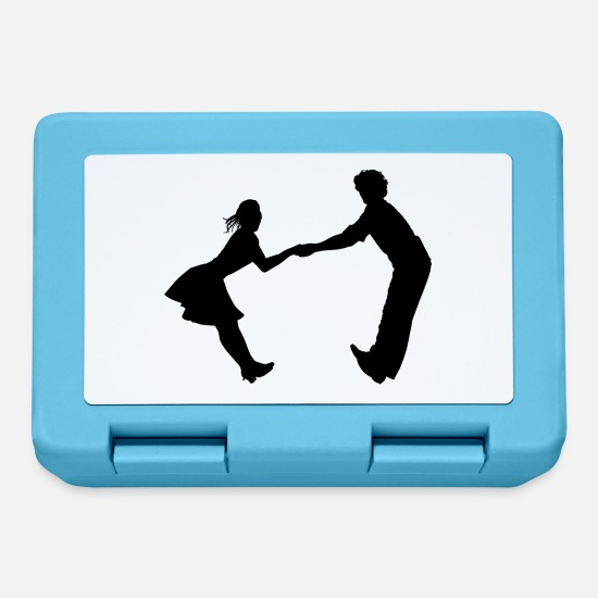 Dancing Lunchboxes - Dancing dance couple music dance music - Lunchbox sapphire blue
