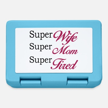 Super Super Mom Super Wife Super Tired - Lunch box