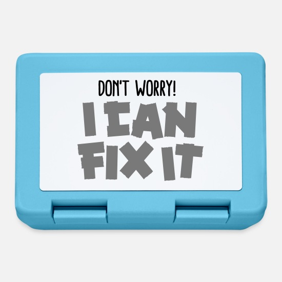 Repair Lunchboxes - Don't worry! I can fix it - Duct tape - Lunchbox sapphire blue