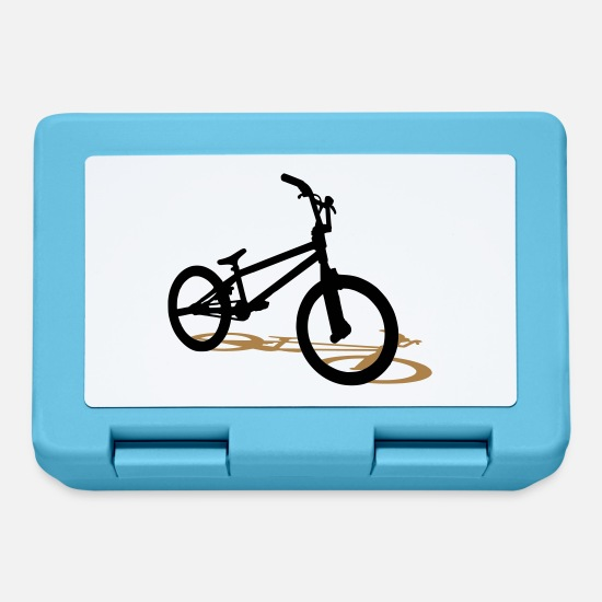 Cycling Lunchboxes - bmx bicycle - Lunchbox sapphire blue