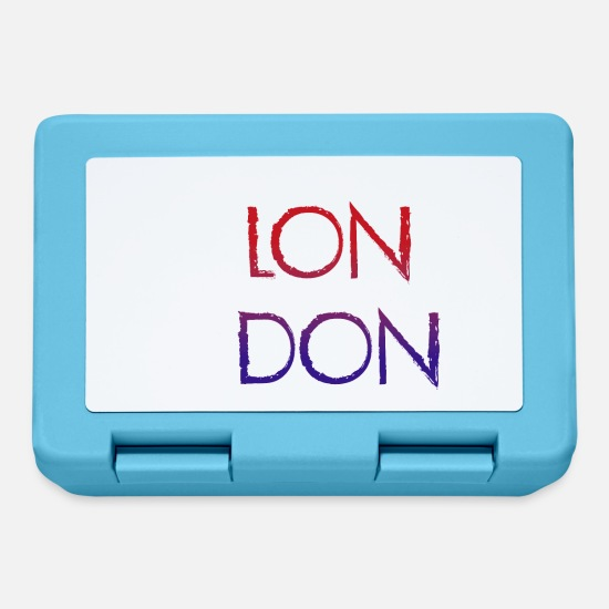 Lettering Lunch boxes - Londra - Lunch box blu zaffiro