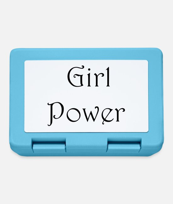 Emancipation Lunchboxes - girl power - Lunchbox sapphire blue