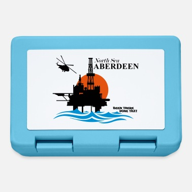 Oil Rig Platform North Sea Aberdeen Oil Rig Platform - Lunchbox