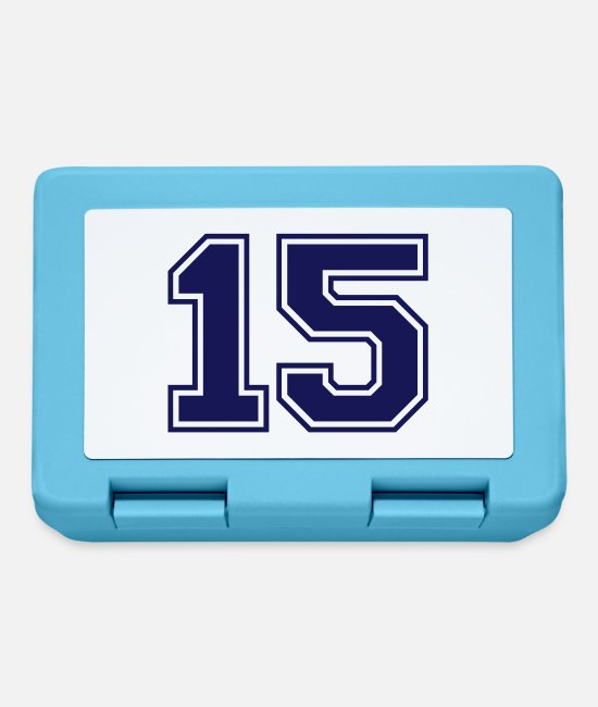 Numbers Lunchboxes - 15 - Lunchbox sapphire blue