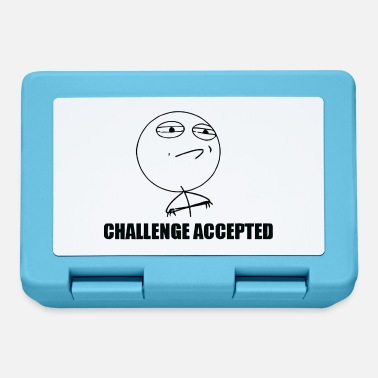 Comic T-Shirt Challenge Accepted Meme Rageface - Lunchbox