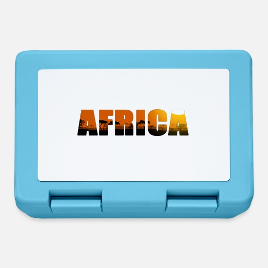 Sole Lunch boxes - Africa Landscape Lettering - Lunch box blu zaffiro