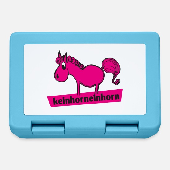 Horse Lunchboxes - No Horn Unicorn - Lunchbox sapphire blue
