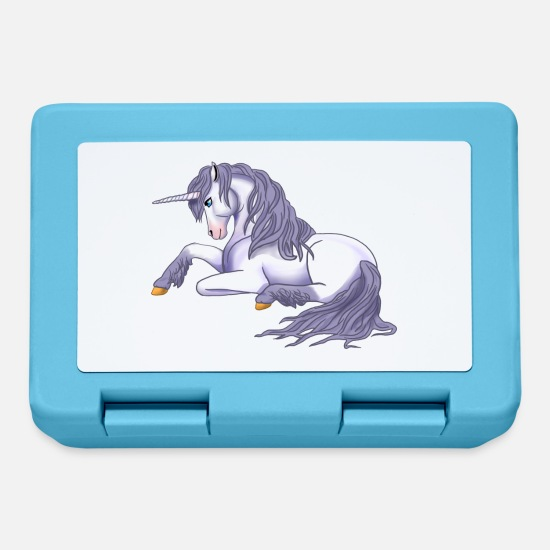 Legend Lunchboxes - Unicorn lying - Lunchbox sapphire blue