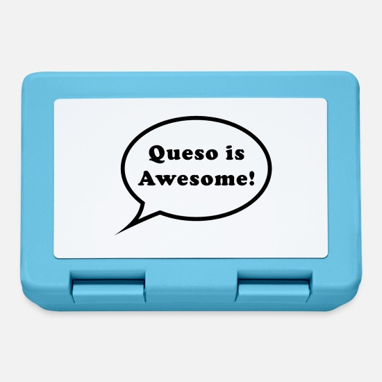 Awesome Lunchboxes - Queso is Awesome! - Lunchbox sapphire blue