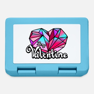 Valentines Day Valentine's Day Be my Valentine geometric - Lunchbox